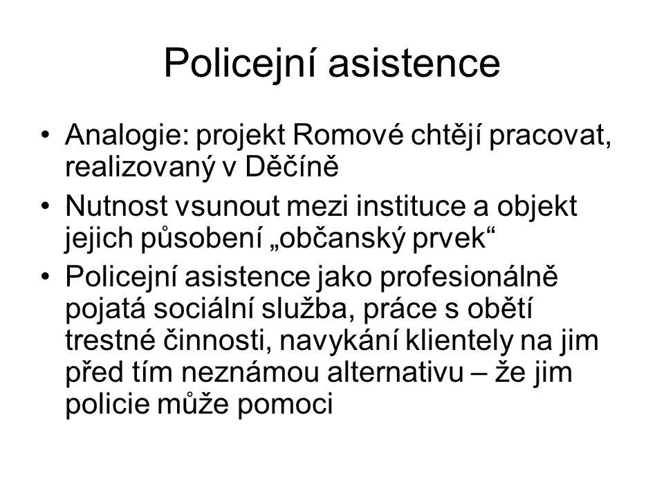 Policejní asistence Analogie: projekt Romové chtějí pracovat, realizovaný v Děčíně.