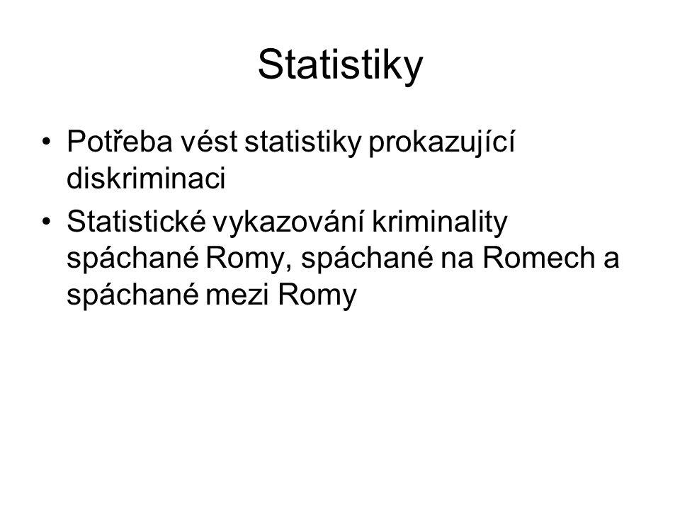 Statistiky Potřeba vést statistiky prokazující diskriminaci