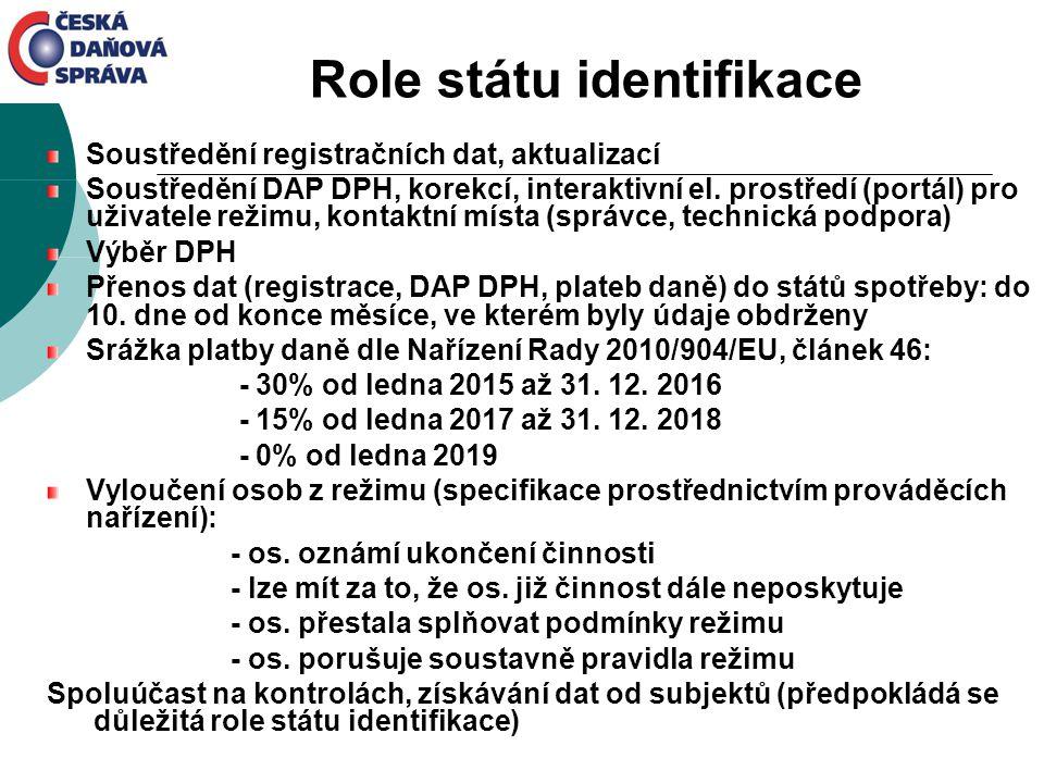 Role státu identifikace