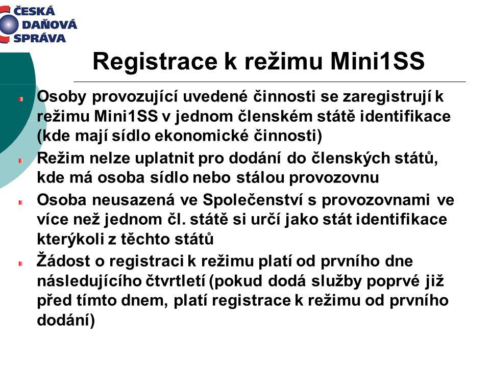 Registrace k režimu Mini1SS