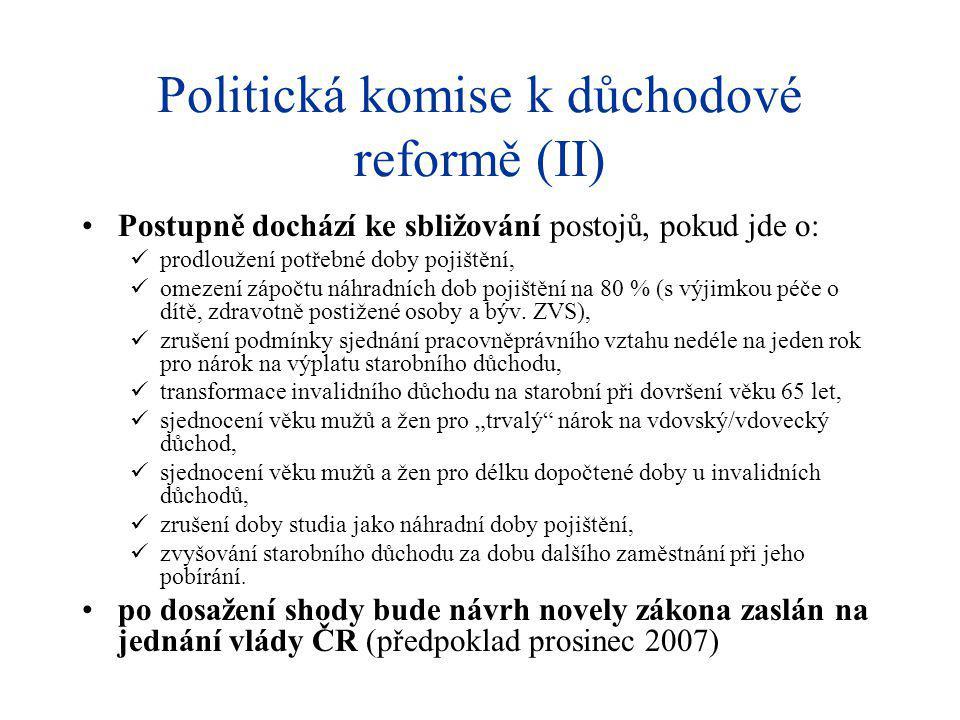 Politická komise k důchodové reformě (II)