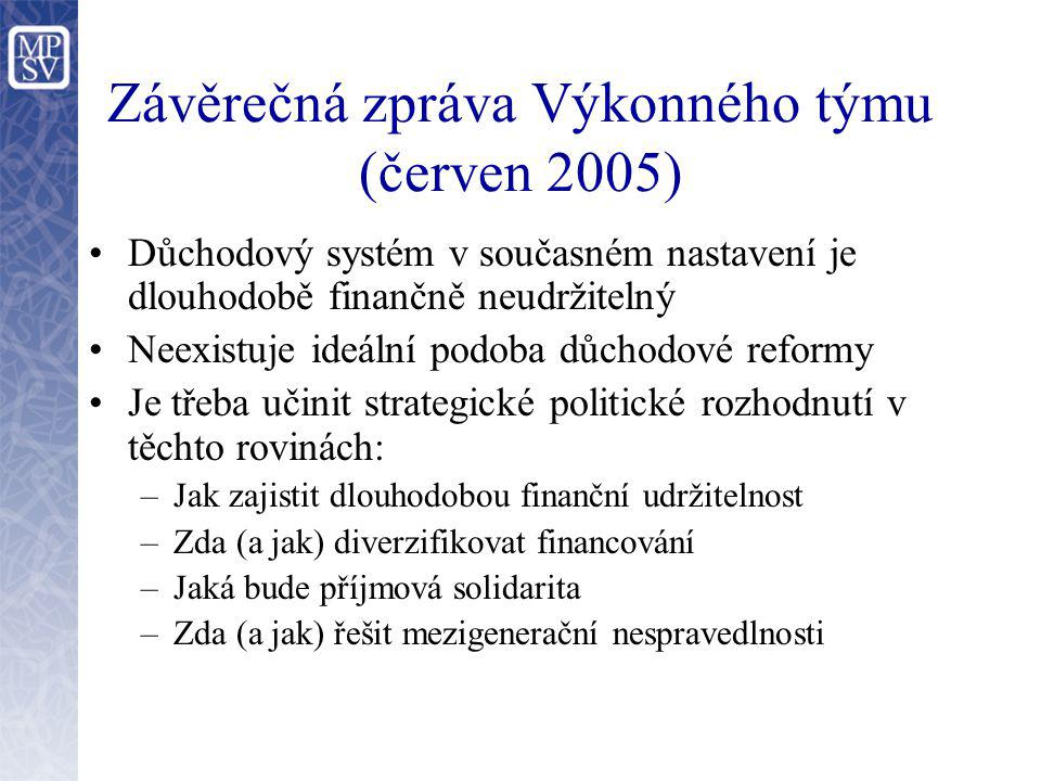 Závěrečná zpráva Výkonného týmu (červen 2005)