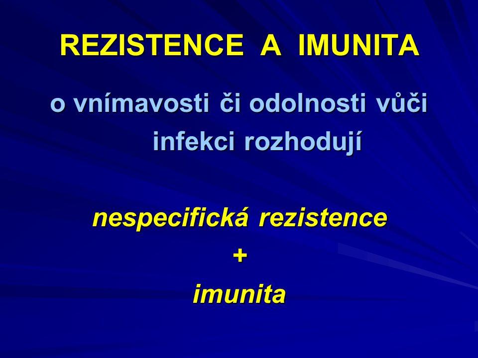 o vnímavosti či odolnosti vůči nespecifická rezistence