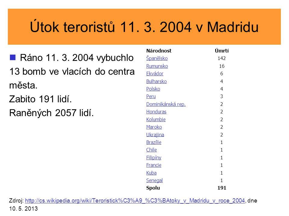 Útok teroristů 11. 3. 2004 v Madridu