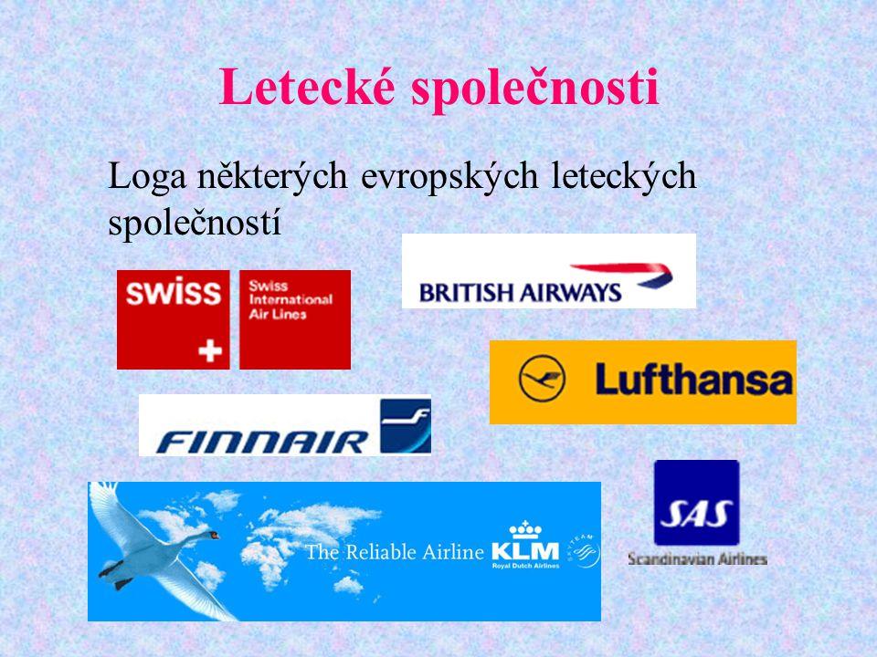 Letecké společnosti Loga některých evropských leteckých společností