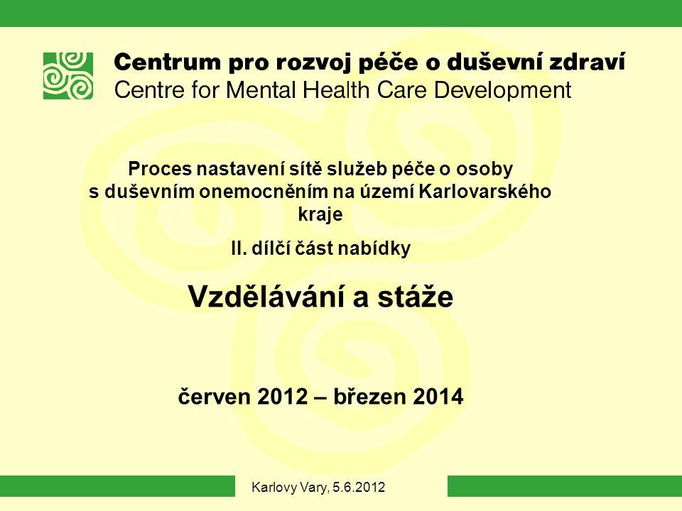 Vzdělávání a stáže červen 2012 – březen 2014