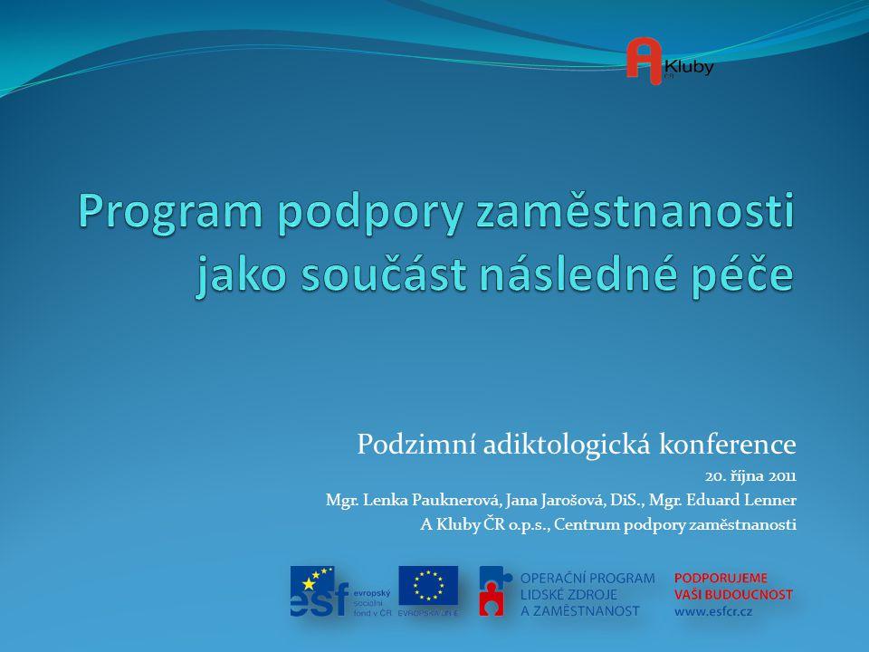 Program podpory zaměstnanosti jako součást následné péče