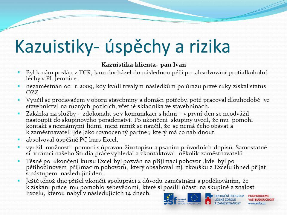 Kazuistiky- úspěchy a rizika