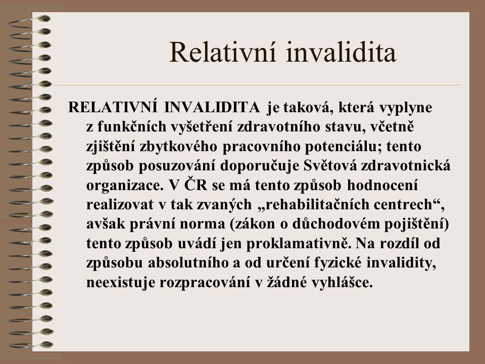 Relativní invalidita