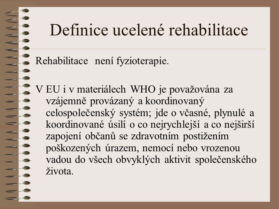 Definice ucelené rehabilitace