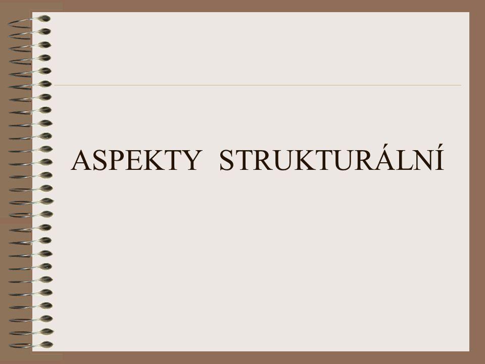 ASPEKTY STRUKTURÁLNÍ