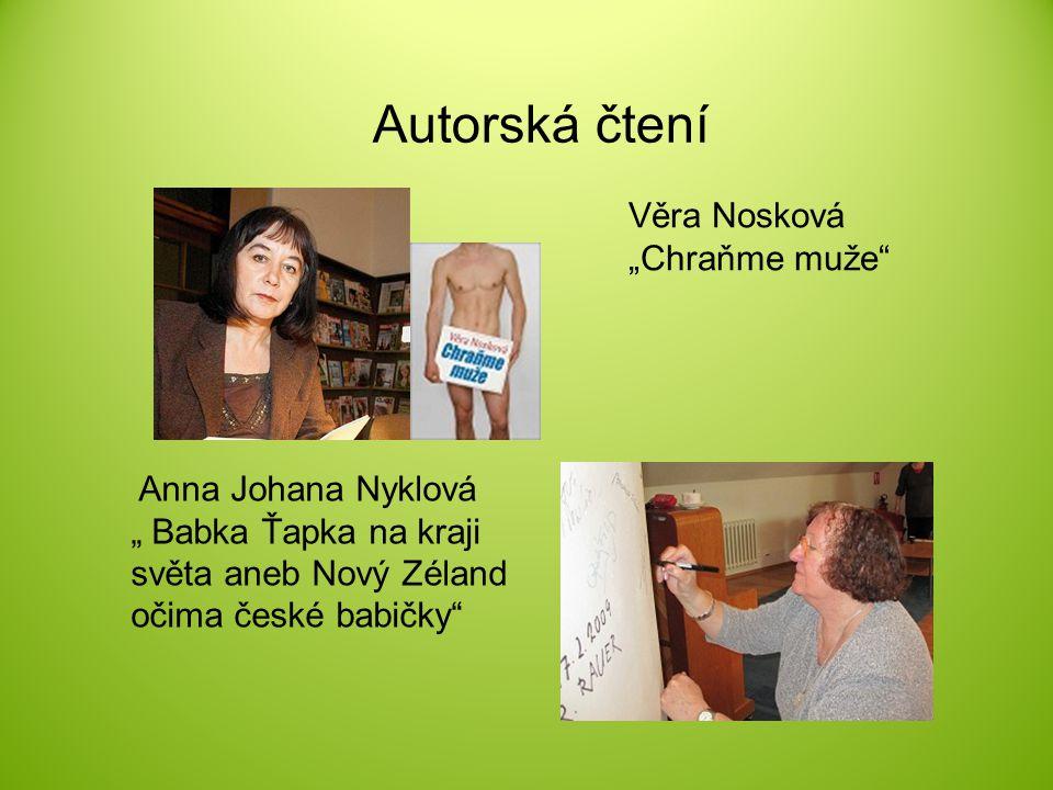 """Autorská čtení Věra Nosková """"Chraňme muže"""
