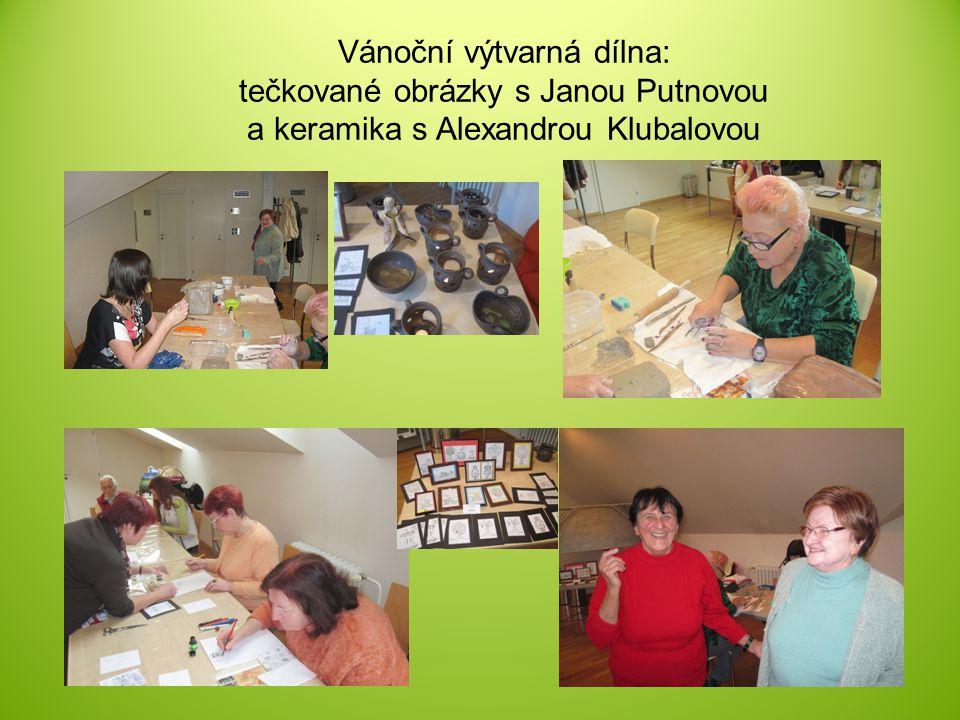Vánoční výtvarná dílna: tečkované obrázky s Janou Putnovou a keramika s Alexandrou Klubalovou