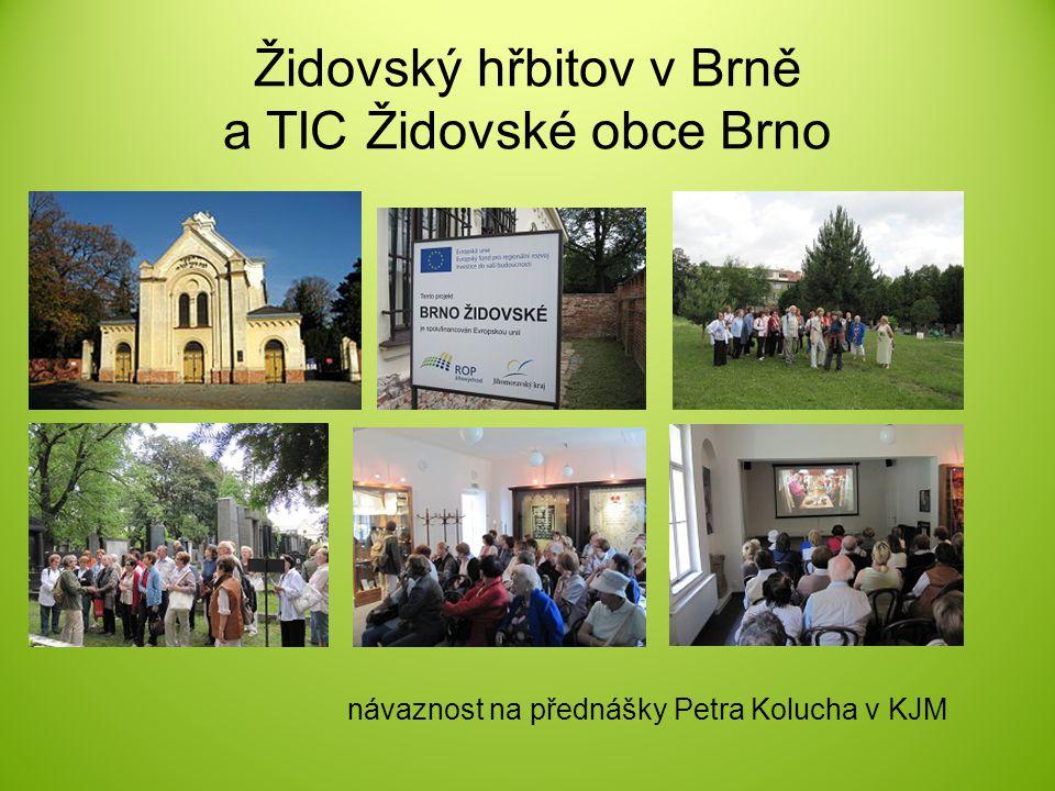 Židovský hřbitov v Brně a TIC Židovské obce Brno