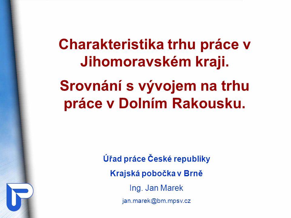 Charakteristika trhu práce v Jihomoravském kraji.