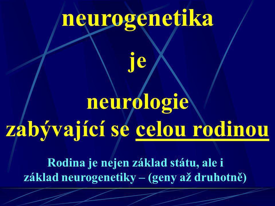 neurologie zabývající se celou rodinou