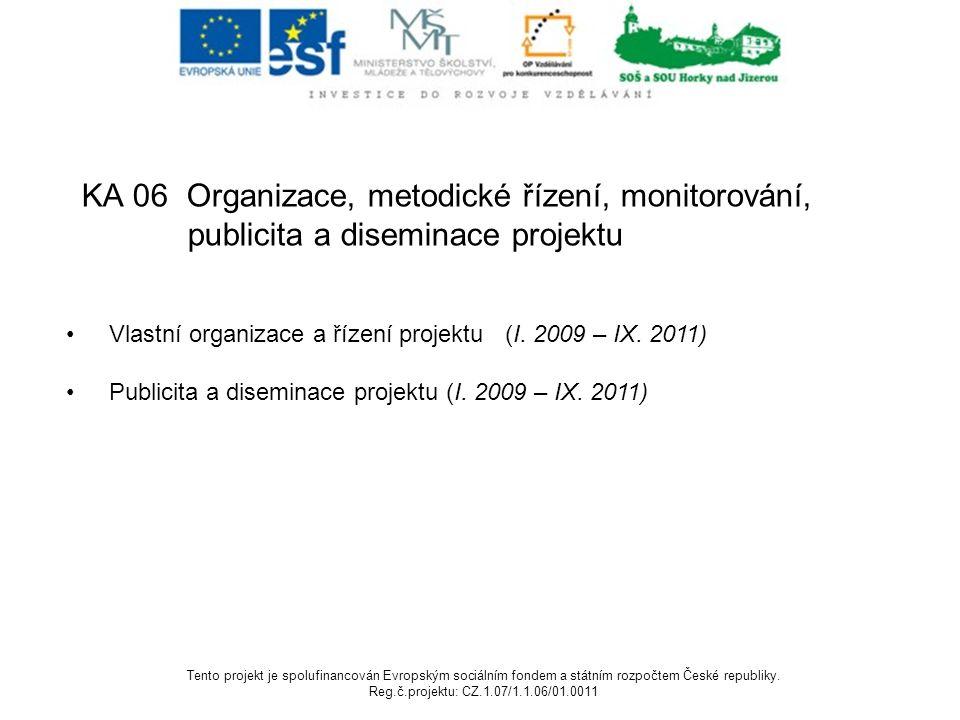 KA 06 Organizace, metodické řízení, monitorování,
