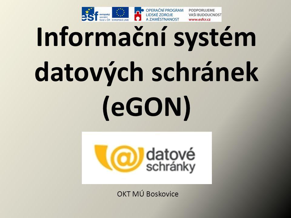 Informační systém datových schránek (eGON)