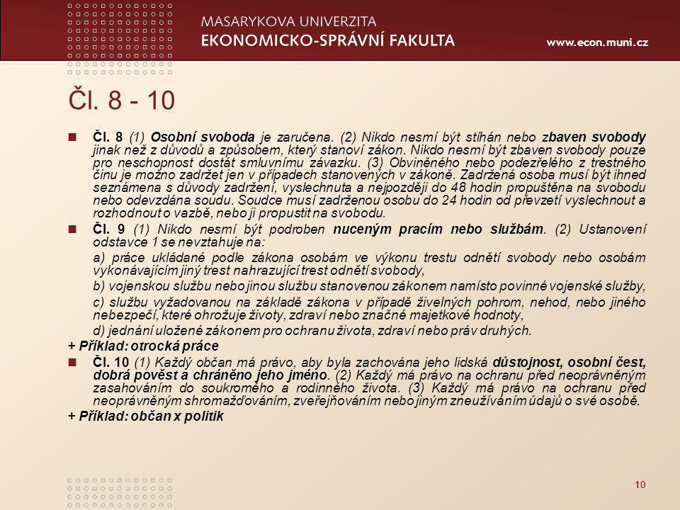 Čl. 8 - 10