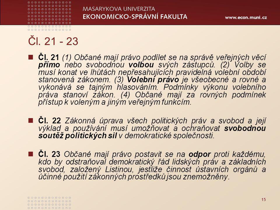 Čl. 21 - 23