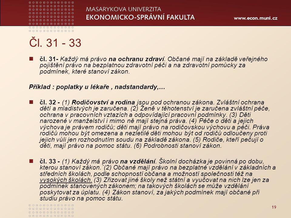 Čl. 31 - 33