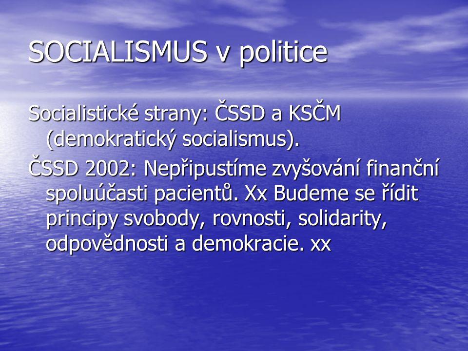 SOCIALISMUS v politice