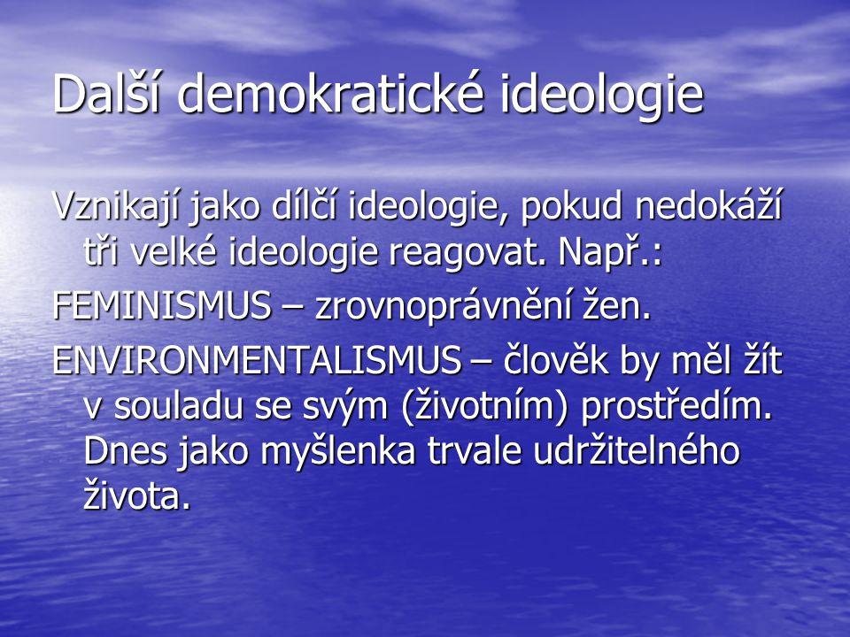 Další demokratické ideologie