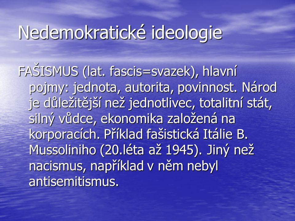 Nedemokratické ideologie