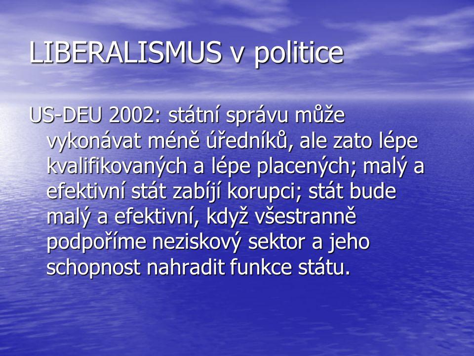 LIBERALISMUS v politice