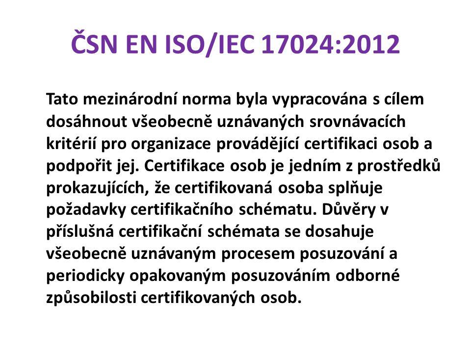 ČSN EN ISO/IEC 17024:2012