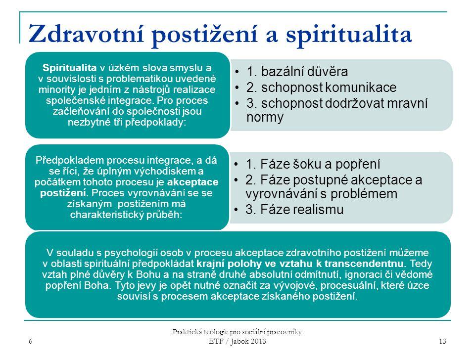 Zdravotní postižení a spiritualita