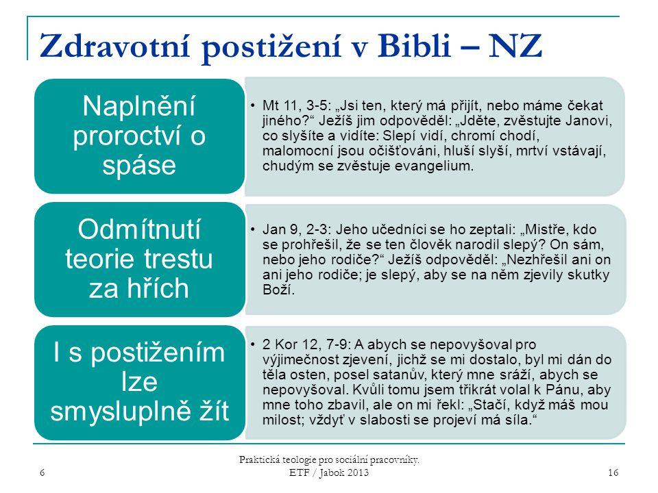 Zdravotní postižení v Bibli – NZ