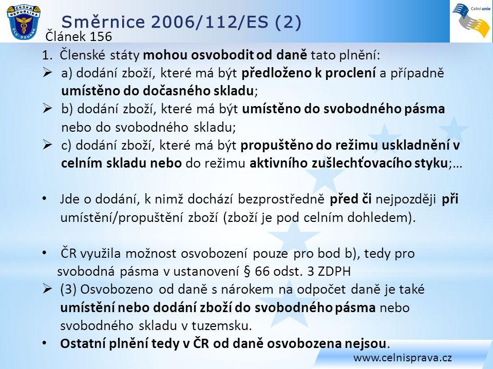 Směrnice 2006/112/ES (2) Článek 156