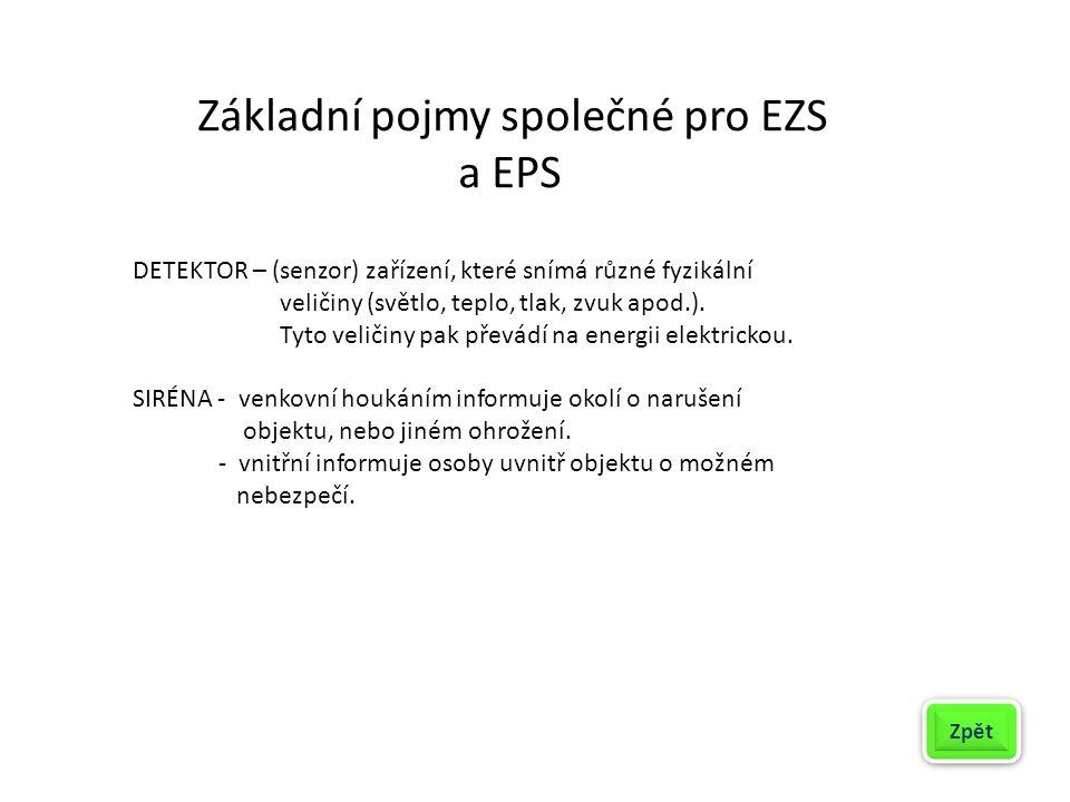 Základní pojmy společné pro EZS a EPS