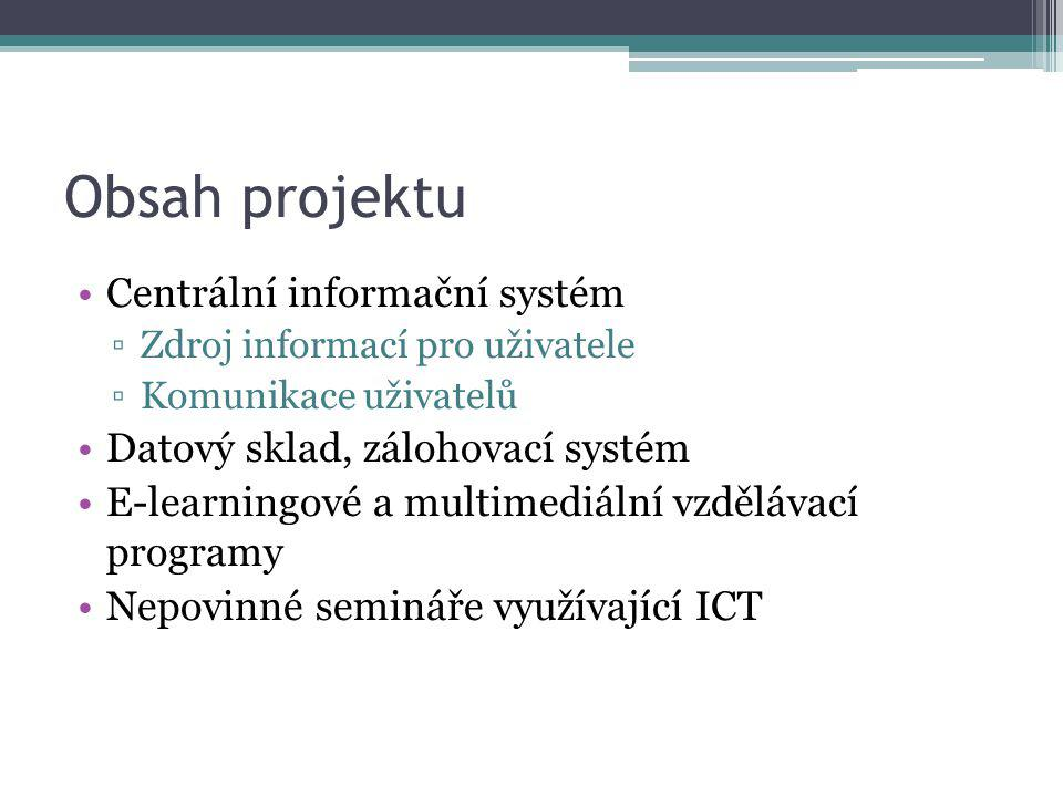 Obsah projektu Centrální informační systém