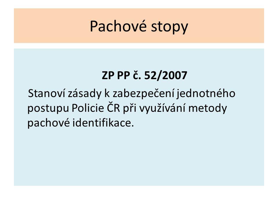 Pachové stopy ZP PP č.