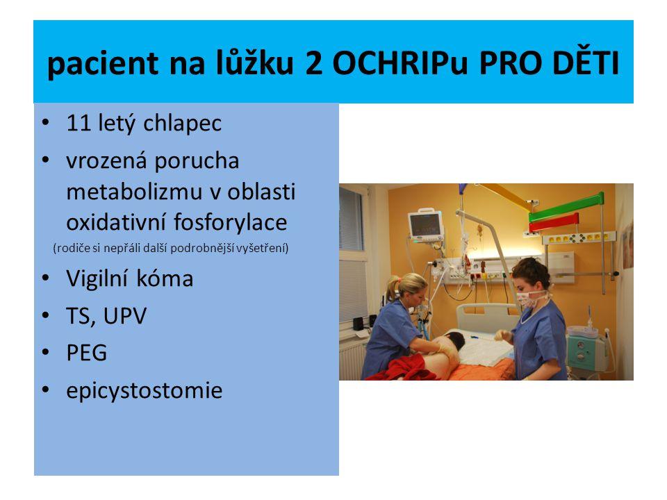 pacient na lůžku 2 OCHRIPu PRO DĚTI