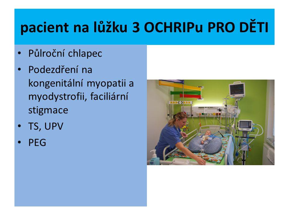 pacient na lůžku 3 OCHRIPu PRO DĚTI