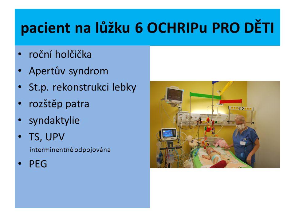 pacient na lůžku 6 OCHRIPu PRO DĚTI