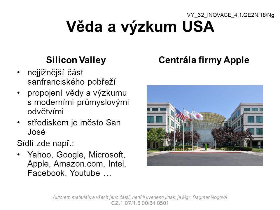 Věda a výzkum USA Silicon Valley Centrála firmy Apple