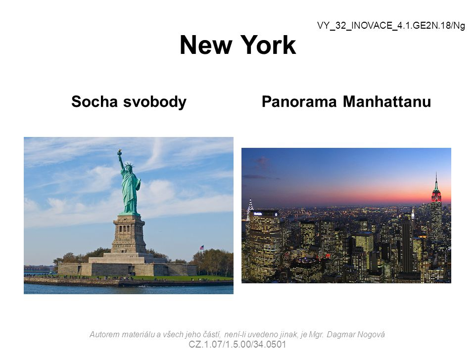 New York Socha svobody Panorama Manhattanu