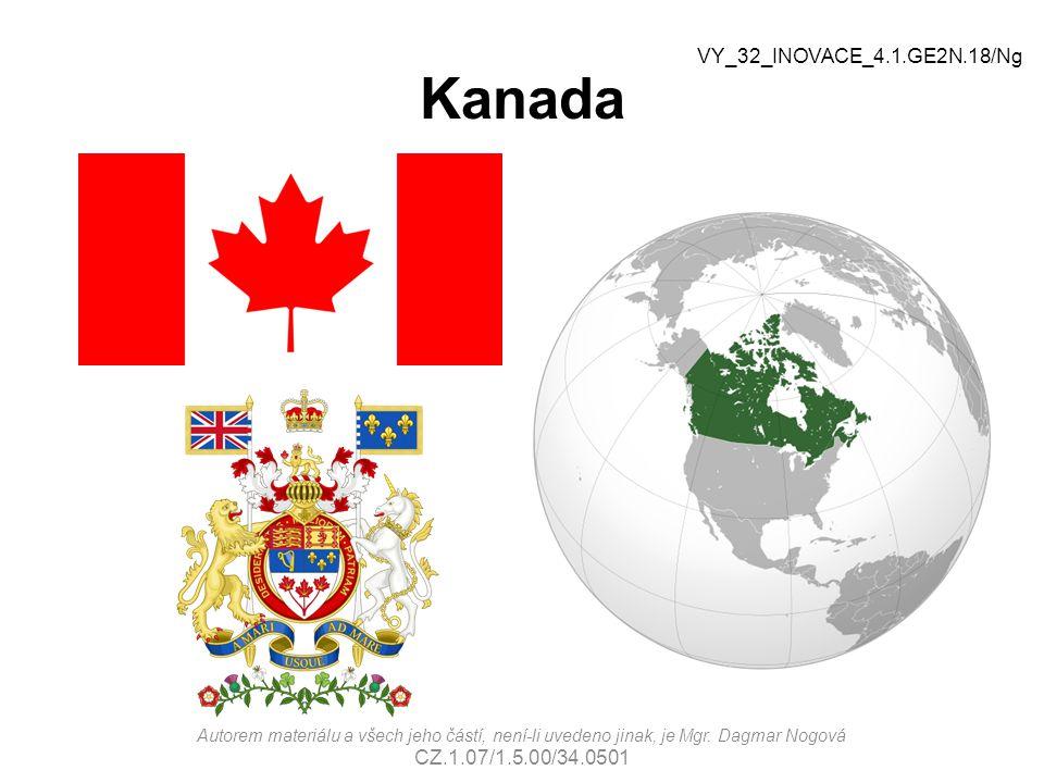Kanada VY_32_INOVACE_4.1.GE2N.18/Ng