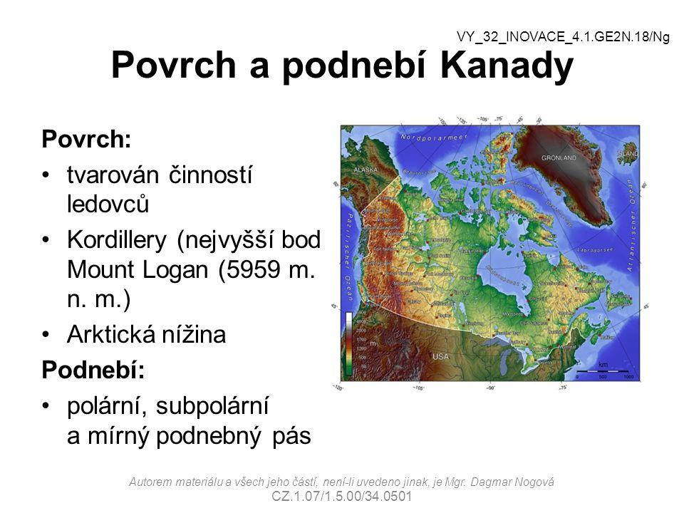 Povrch a podnebí Kanady