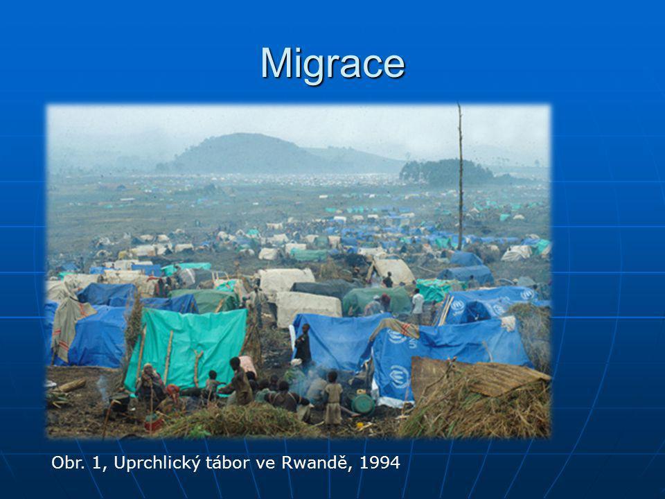 Migrace Obr. 1, Uprchlický tábor ve Rwandě, 1994