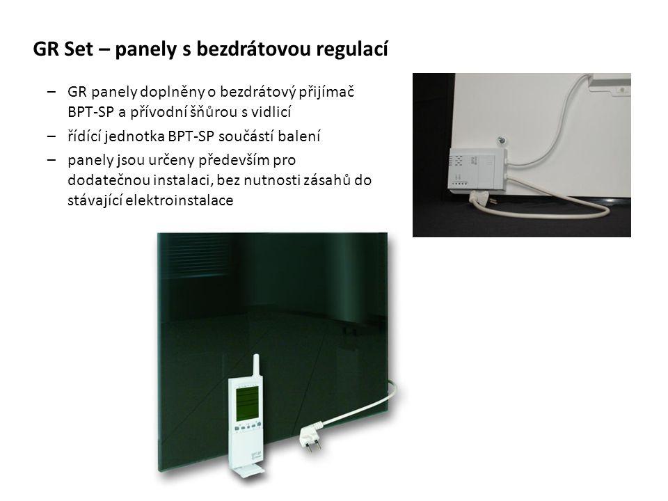 GR Set – panely s bezdrátovou regulací