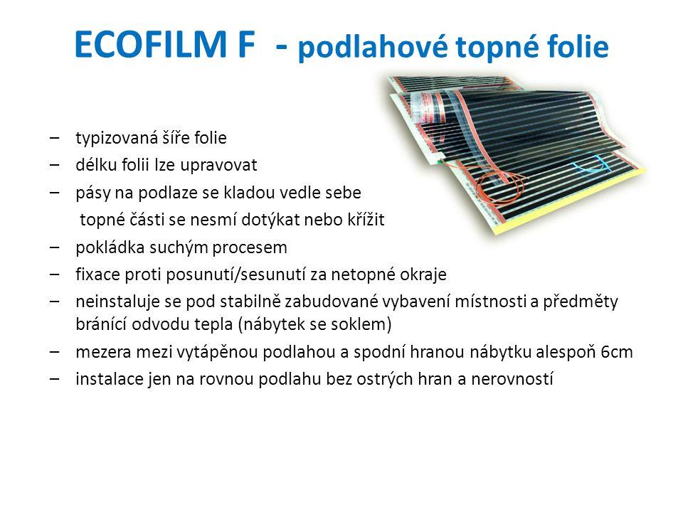 ECOFILM F - podlahové topné folie