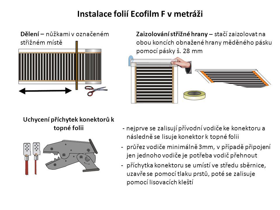 Instalace folií Ecofilm F v metráži