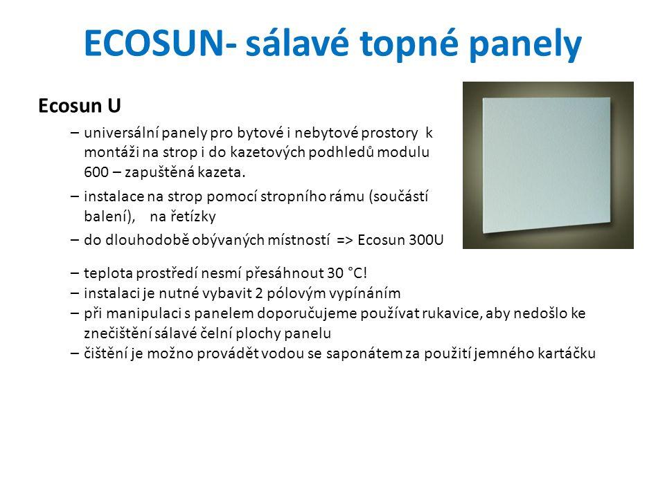 ECOSUN- sálavé topné panely