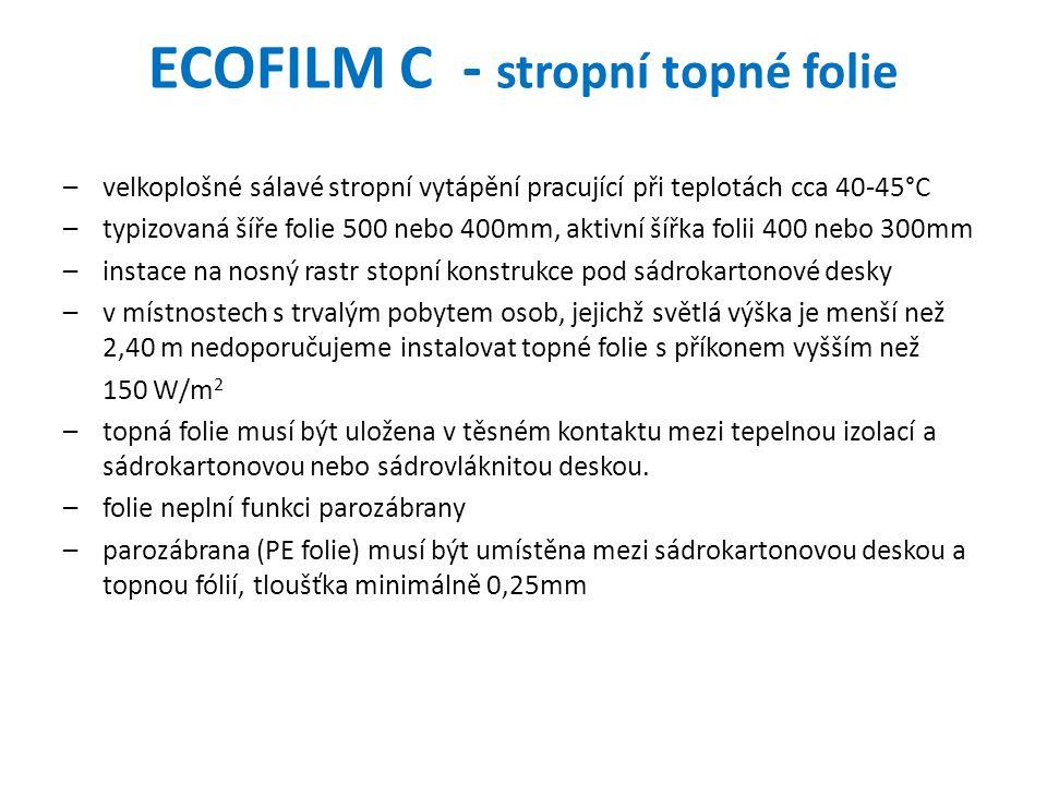 ECOFILM C - stropní topné folie