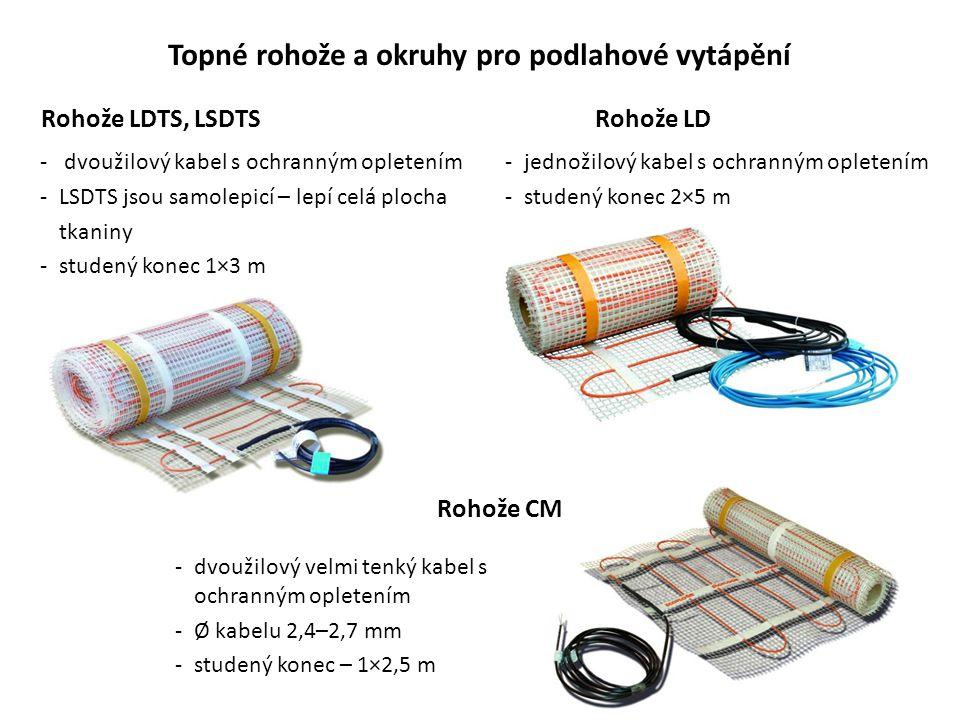 Topné rohože a okruhy pro podlahové vytápění